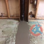 re-cementing-trench-in-the-basement