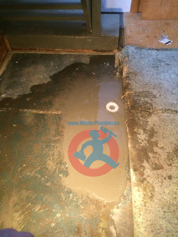 broken floor in the basement