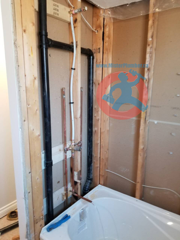 plumbing after installation