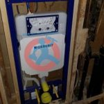 Rough in plumbing for wall hung toilet s