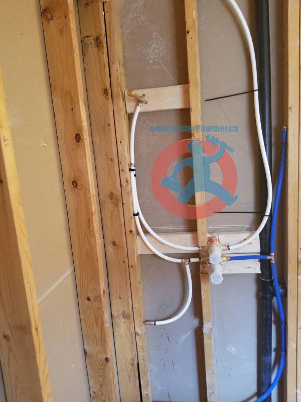 Shower faucet connection