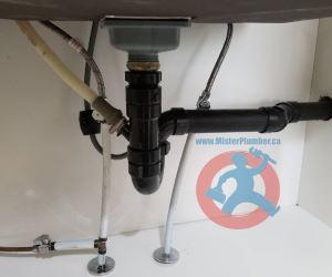 Under kitchen sink plumbing s