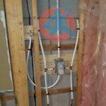 Shower tap body installation s