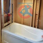 Acrylic bathtub and tap installation s