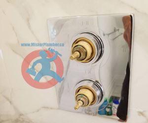 Installation of shower tap trim s
