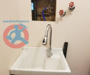 Laundry sink plumbing relocation s