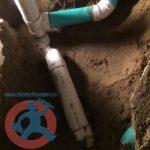 New PVC floor drain in Toronto s
