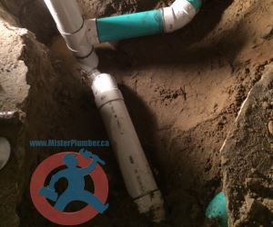 New PVC floor drain in Toronto s