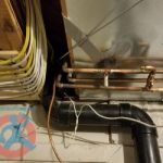 Plumbing alterations under the ceiling s