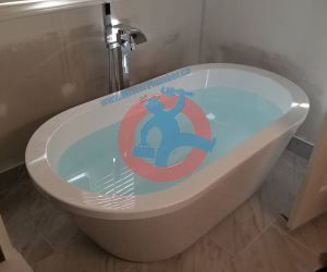 newly installed bathtub s