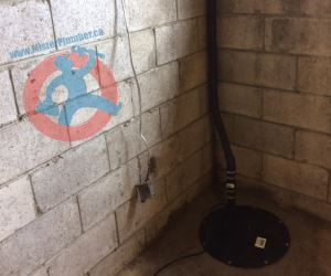 Basement flood protection with installation s
