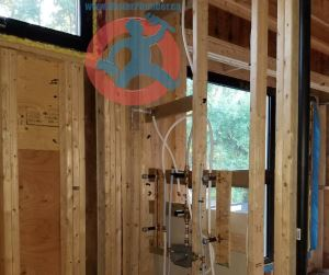 Installation of rough in shower body s