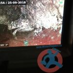 Sewer camera show grease accumulation s