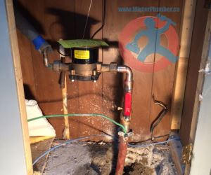 Water service upgrade with copper s