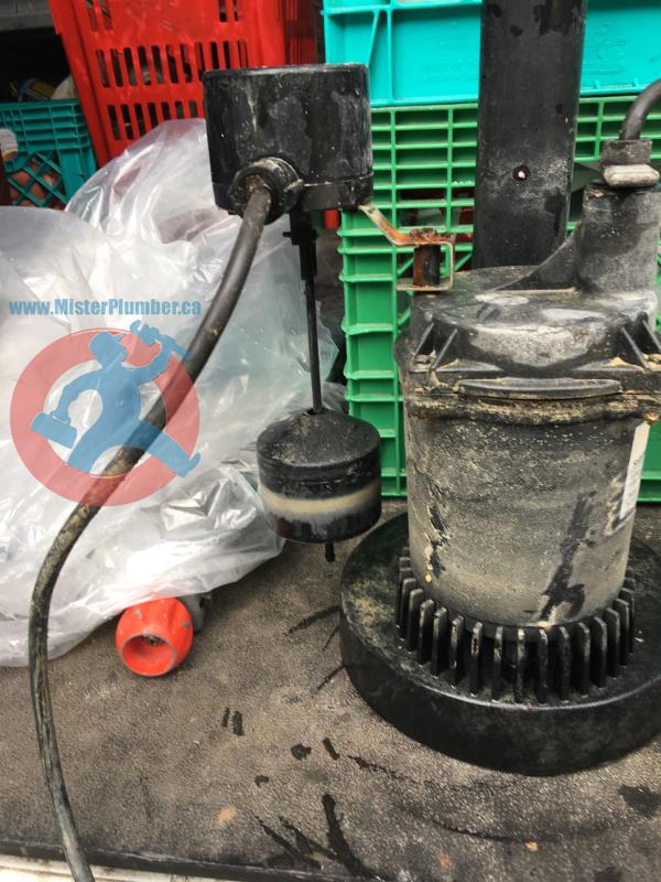old sump pump remove