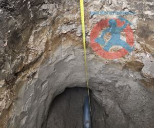 Checking a depth of underground s