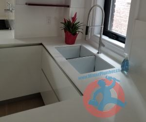 Modern kitchen tap with two s