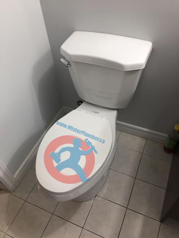 Toilet installation in Toronto