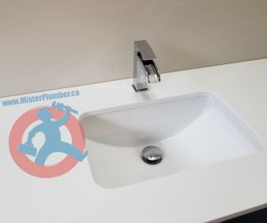 Washroom-hand-sink-with-faucet-s