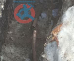 Broken underground main water pipe s