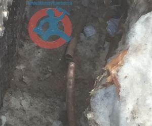 Broken underground main water pipe s