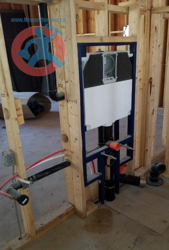 wall-hung toilet install