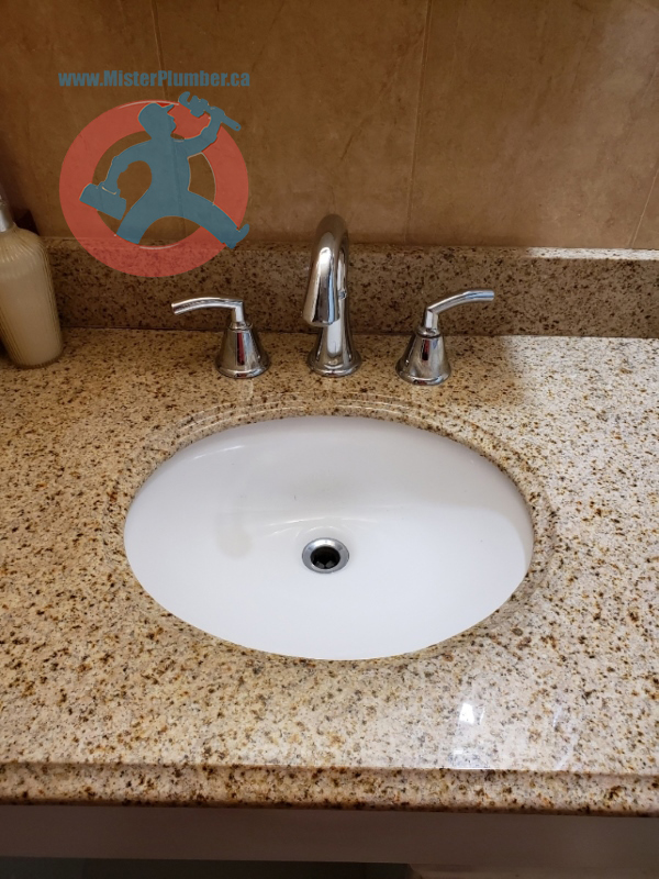Lavatory faucet install