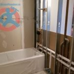 New acrylic bathtub in a condo s