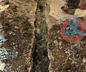Breaking a trench in the basement s