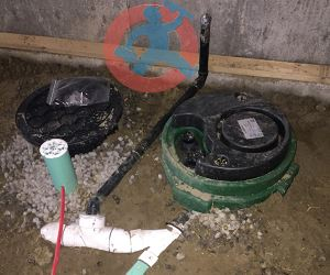 Drain-connection-to-sewage-pit-s