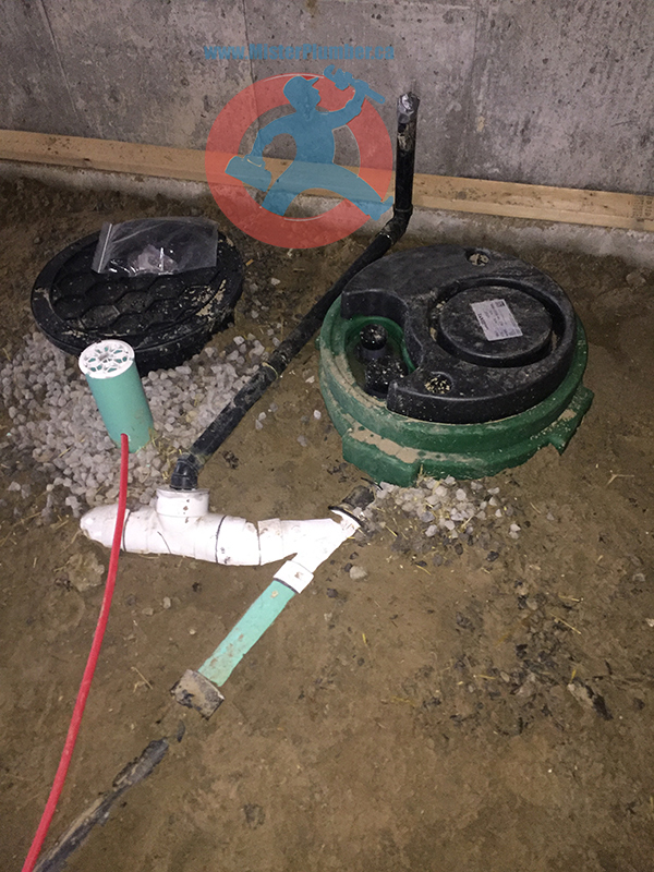 Drain connection to sewage pit