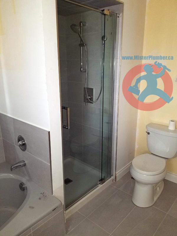 Final plumbing installation