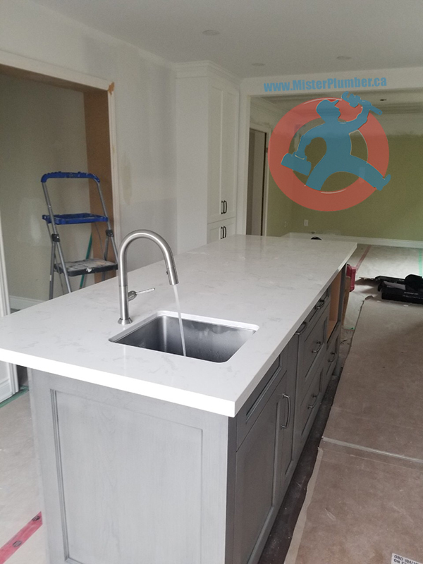 Kitchen island sink