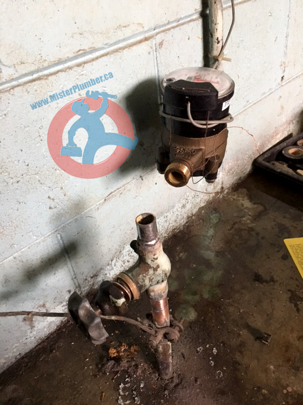 Main water shut off valve replacement