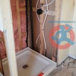 Shower base and tap