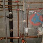Copper pipes leak repair in a condo unit
