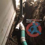Drain repair in the basement
