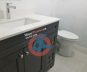 Final plumbing fixtures installation