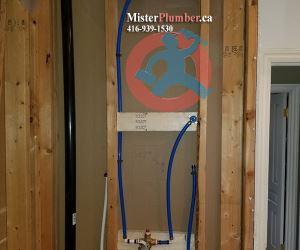 Shower tap body installation