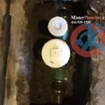 Basement flood protection with backwater valve