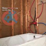 Plumbing for washroom renovation
