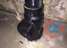 Drain clean-out on soil stack