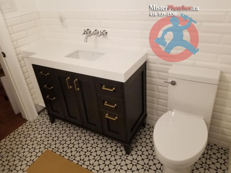 Modern washroom plumbing