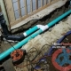PVC underground drain pipe