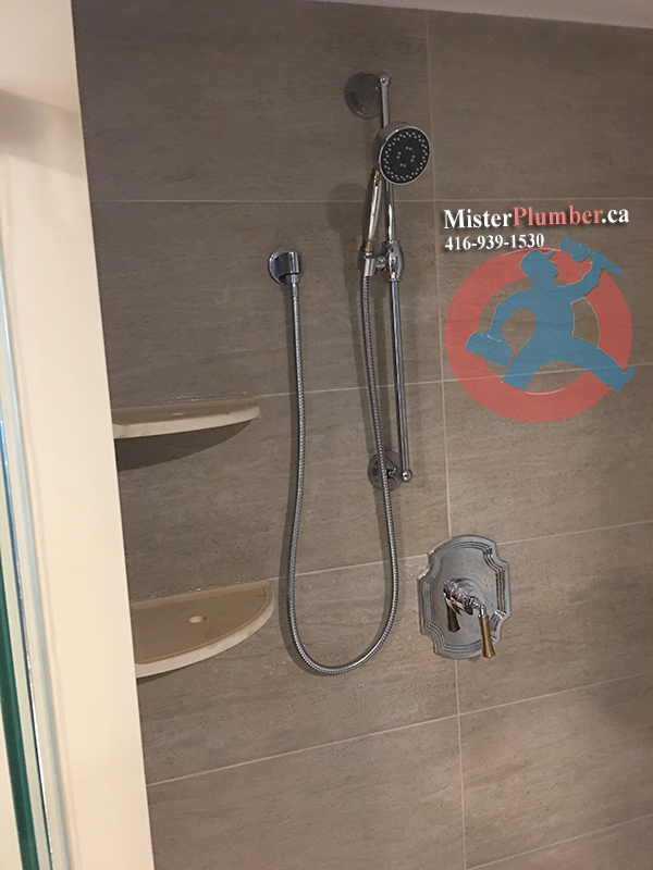 Shower handheld with bar