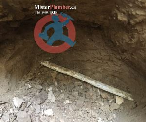 Underground water lead pipe in Toronto