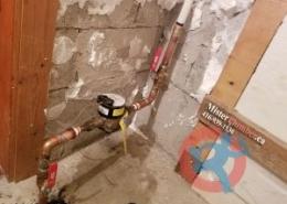 Main shut off valve and water meter