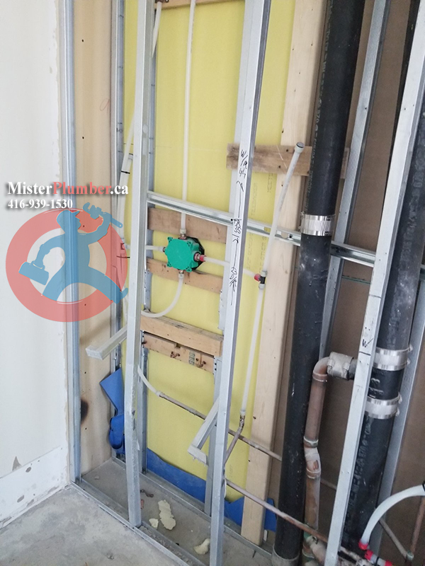 Plumbing service in a condo by Mister Plumber