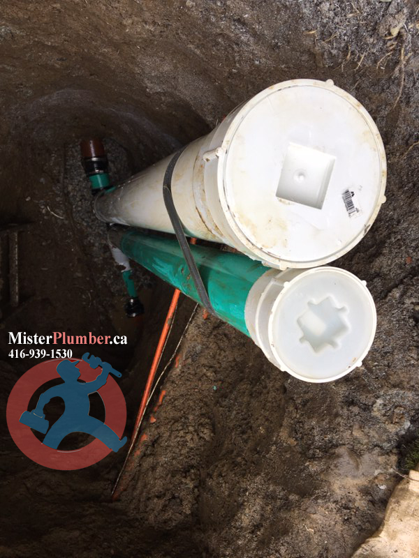 Backwater valve installed to prevent sewage backup in Toronto