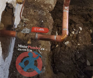 """New 3/4"""" water service line"""
